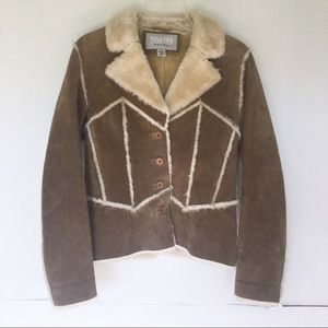 Wilsons Leather | Tan Leather Faux Fur Jacket